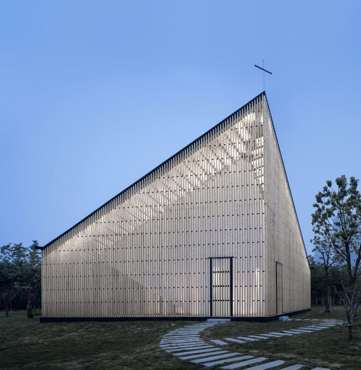 Cutting-edge religious architecture around the world   Architecture   Wallpaper* Magazine Nanjing Wanjing Garden Chapel, China by AZL Architects Completed in 2014  Completed in 2014, the structure looks bulky, but actually upon closer inspection, its sides - which are built in a wooden lattice pattern resembling rectangular-shaped chainmail - are light and dainty