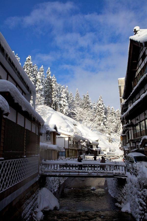 **Ginzanshinbata Obanazawa, Yamagata Prefecture, Japan 