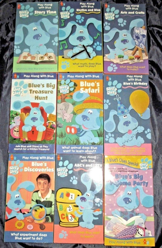 9 Blue S Clues Vhs Tapes Story Time Safari Discoveries Birthday