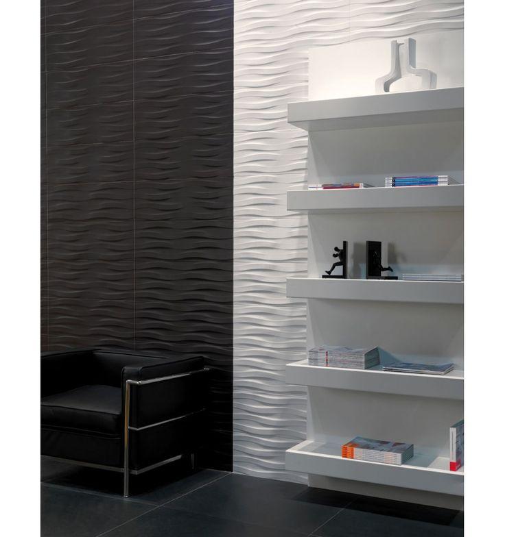 Dekoration kakel online för badrum och kök på Kakelmonster | Synura Svart 25x70
