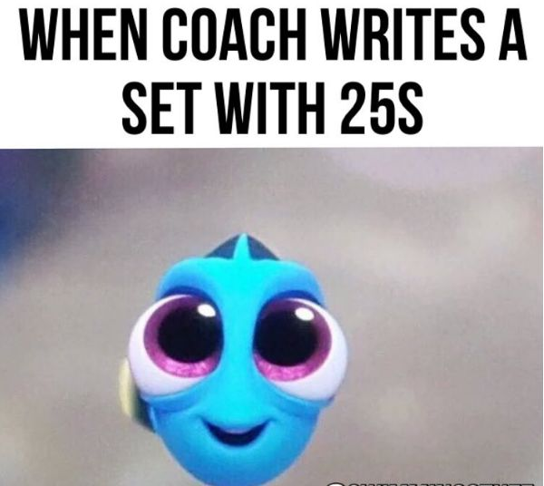 When you get a sprint set during practice and you can't contain your excitement: | 24 Pictures That Will Only Be Funny To Swimmers