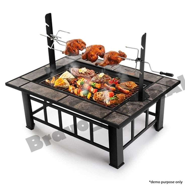 Details About Outdoor Fire Pit Bbq Grill Garden Patio