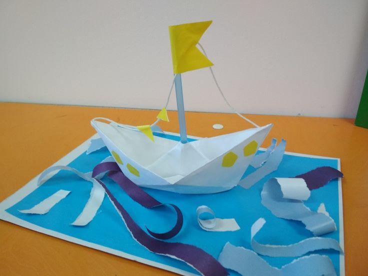 Я коробок смастерил И в ручей его пустил... Оригами, аппликация 5-6 лет дети