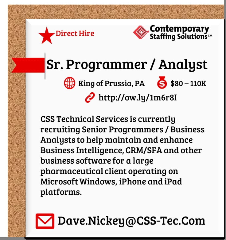Job Details Tech Job Business Analyst
