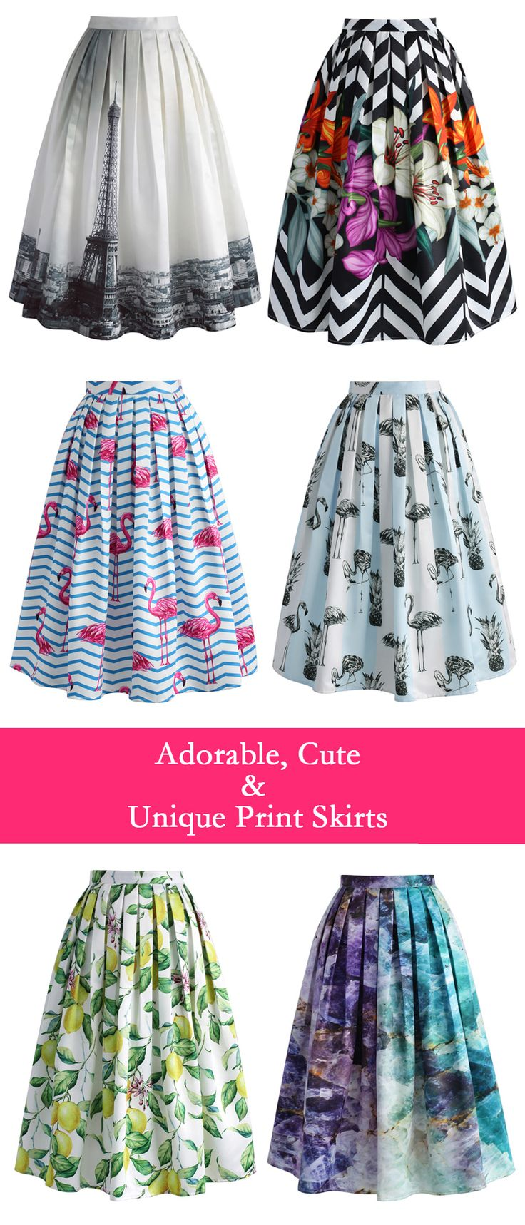 adorable cute and unique print skirts chicwish.com