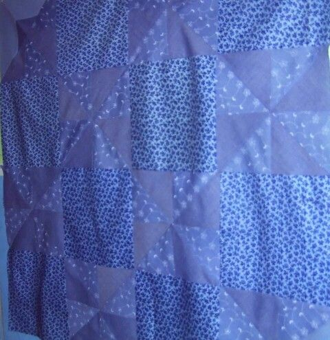Pinwheel & blueberry block quilt top ~by Gypsy Stitches~