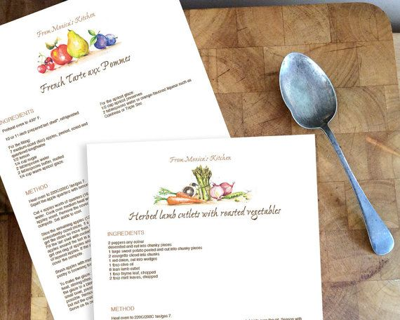Printable Recipe Binder template Editable PDF by TheConstantArtist