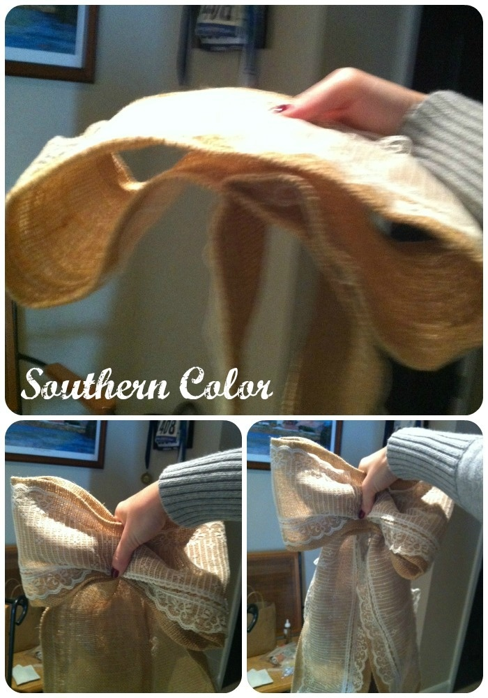 Southern Color: Burlap & Lace Chapel Pew Bows