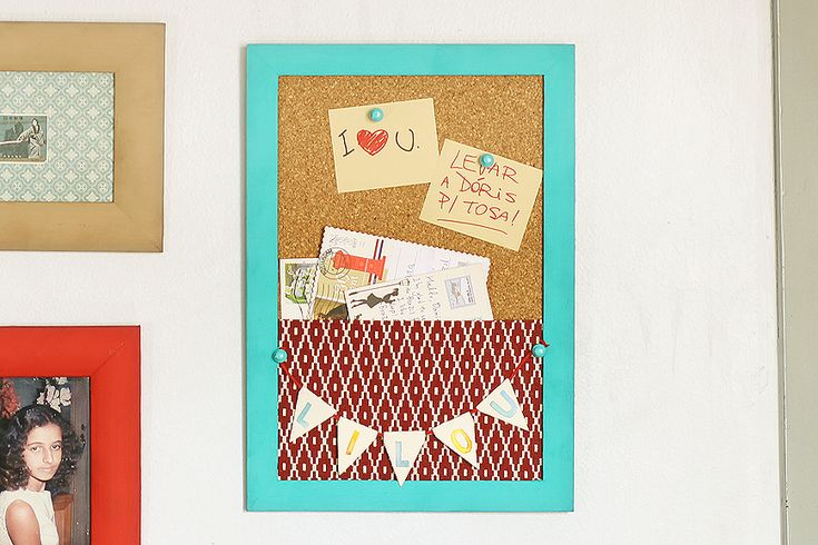 Quadro de Cortiça  http://www.lilouestudio.com/blog/diy-quadro-para-cartas-e-recados/