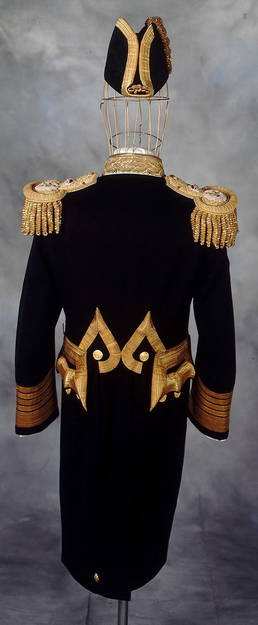 Back view of the Royal Naval uniform: pattern 1901 (but this one was made in 1936).