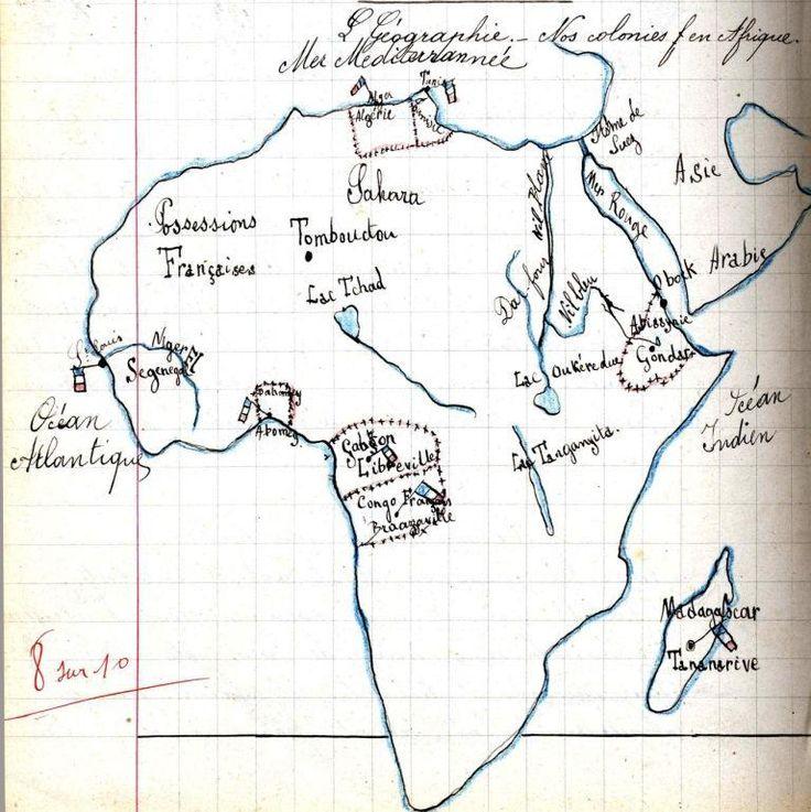 G ographie nos colonies fran aises en afrique certains for Portent en francais