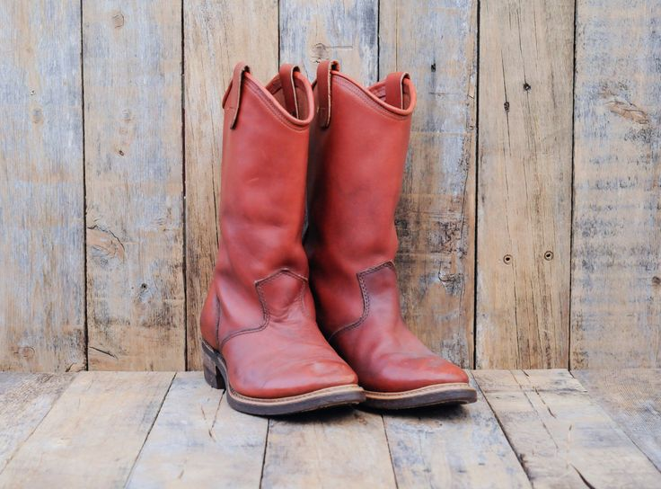 Red Wing Boots, Us 10.5, Uk 10, Eu 44, Leather Cowboy Boots, Man Boot 10, Man Work Boot 10, USA MADE, Cowboy Boots 10, Leather Boots 10 by FauxyFurrVintage on Etsy