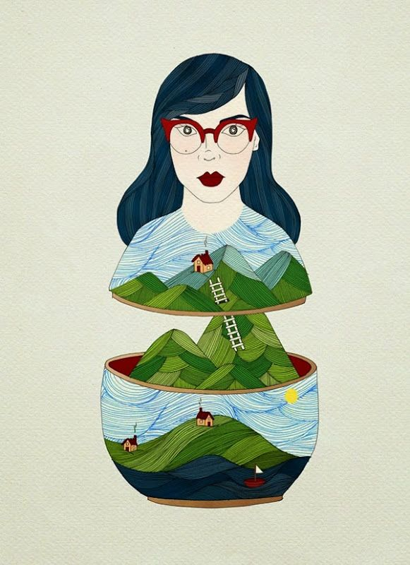 Illustrations by Alexis Winter | http://ineedaguide.blogspot.com/2015/05/alexis-winter.html | #illustrations #drawings