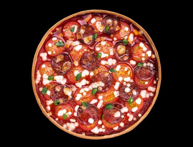 Tarte au chorizo et mozzarella