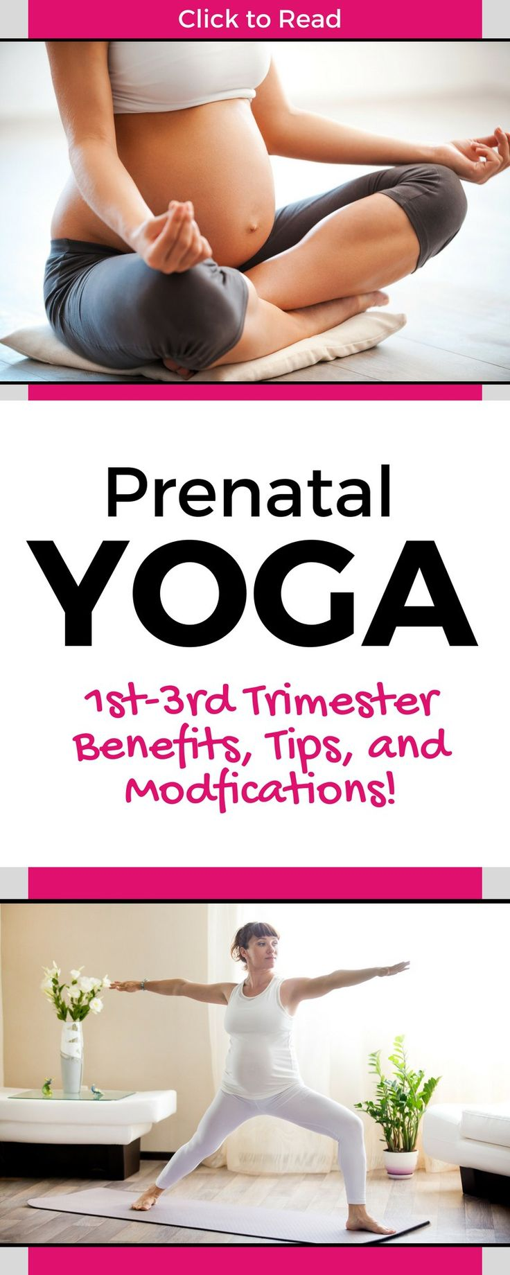 Great intro post with prenatal yoga info, tips, modifications and poses for the pregnant mommy! Learn how to use prenatal yoga for back pain, prenatal yoga beenfits and prenatal yoga poses! Everything you need in one helpful but easy to read post! mate