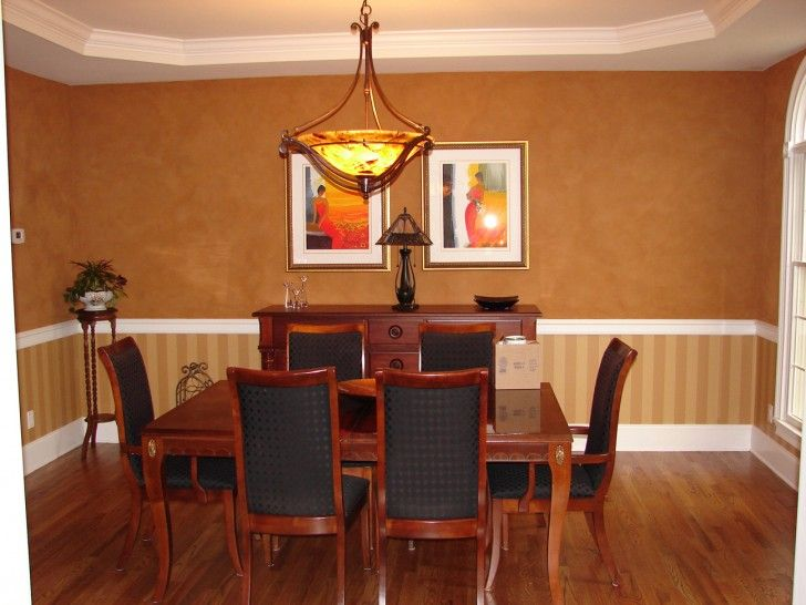 Small White And Brown Dining Room With Warm Color With Brown Wood Materials Rectangle Shaped Dining Table And Simple Chairs That Have Soft Black Fabric Seat Cushions Riveting Dining Room Paint With Warm Color Dining Room
