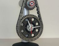 auto engine timing parts desk clock javelin web