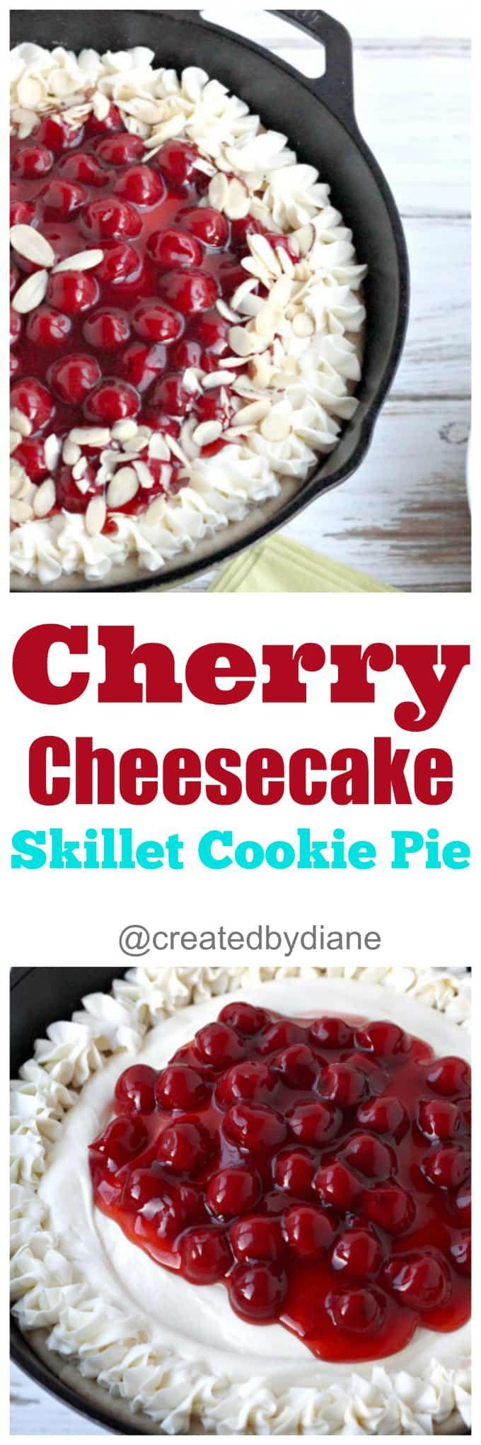 cherry cheesecake skillet cookie pie easy recipe @…