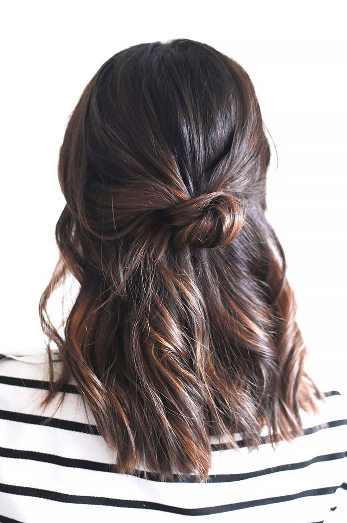 3-Minute+Hairstyles+for+When+You're+Running+Late+via+@ByrdieBeautyUK