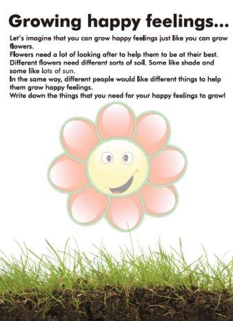 Growing Happy Feelings- Counseling Printable
