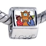 Pugster Couple Waiting New Year Engraved Love Holiday Beads Gift Fits Pandora Charm Bracelet - Pugster Couple Waiting New Year Engraved Love Holiday Beads Gift Fits Pandora Charm Bracelet    Fit Pandora, Biagi, and Chamilia Charm Bead BraceletsHole s