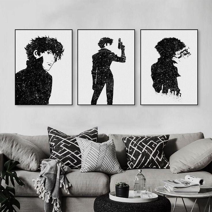 watercolor cowboy bebop spike buy from our #etsyshop hope you like it#artprints #artwork #mildart #poster #uniquegift #wallart #homedecor #painting #watercolo #photooftheday #amazing #picoftheday #bestoftheday #style #art #illustration #beautiful #artoftheday #anime #cowboybebop #handsome #blacknwhite via www.mildart.com