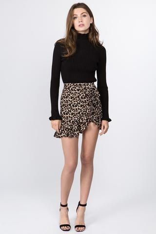 495cad753fe2 Leopard Wrap Mini Skirt in 2019 | Style | Mini skirts, Leopard skirt ...