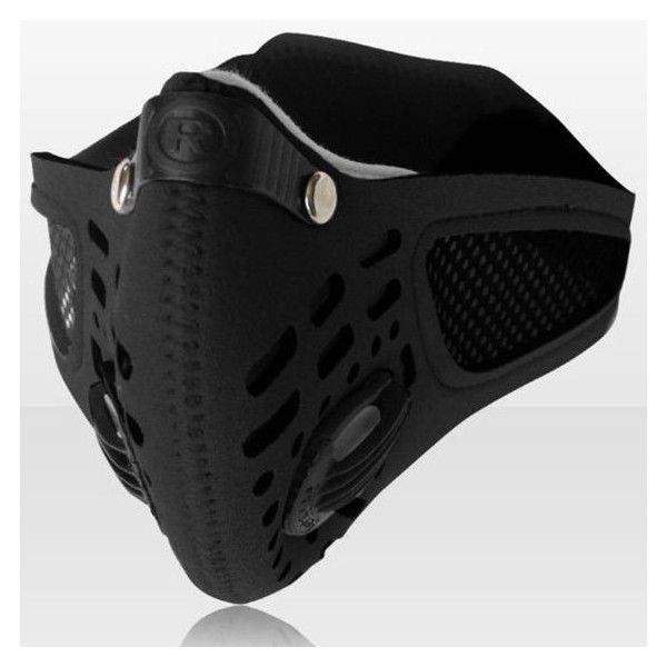 TECH-P Neoprene Anti Dust Motorcycle Cycling Ski Half Face Mask Filter... ❤ liked on Polyvore featuring mask
