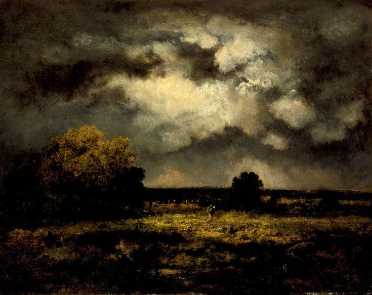 Narcisse-Virgilio Diaz de la Peña - Stormy Landscape,1872