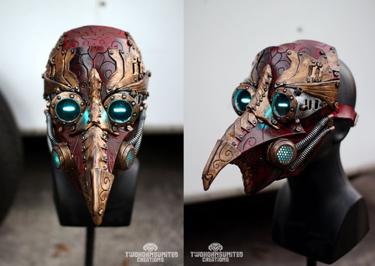 Arcane Steampunk/victorian LED plague doctor mask by TwoHornsUnited on DeviantArt