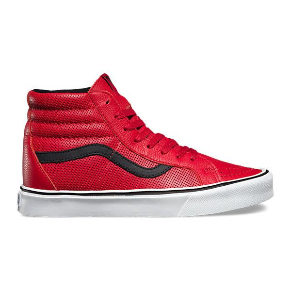 vans shoes red and white. perf sk8-hi lite (570 hrk) ❤ liked on polyvore featuring men\u0027s fashion, shoes, sneakers, red, mens high top red vans shoes and white s