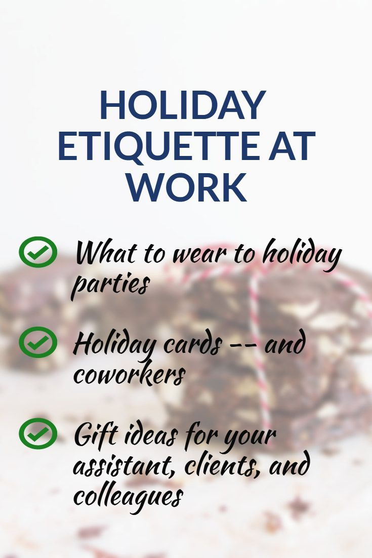 c55093cdd3c Holiday etiquette at work can be tricky -- don t let it trip you up ...