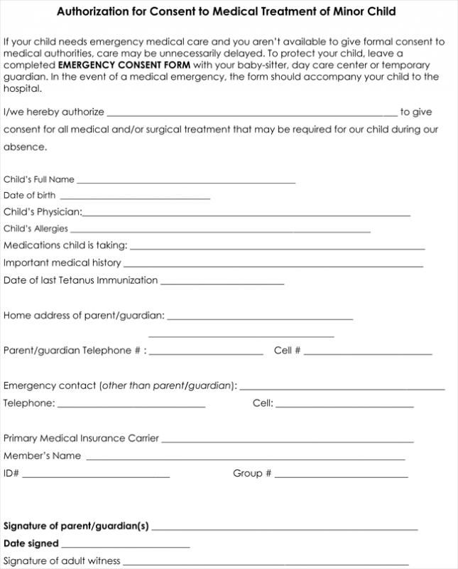 Medical Consent Form Template Check More At Https Nationalgriefawarenessday Com 26278 Medical Consent Form Template