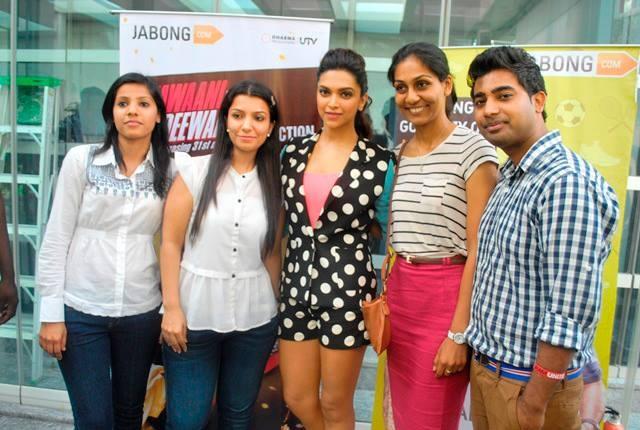 Jabong.com TEAM with the HOT DIVA : Deepika Padukone — at Four Seasons Mumbai.
