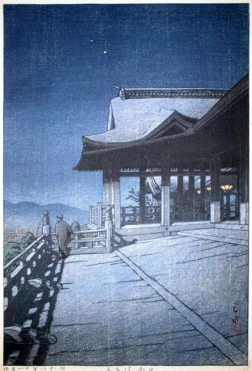 Kawase Hasui Kiyomizu Temple, Kyoto 1933