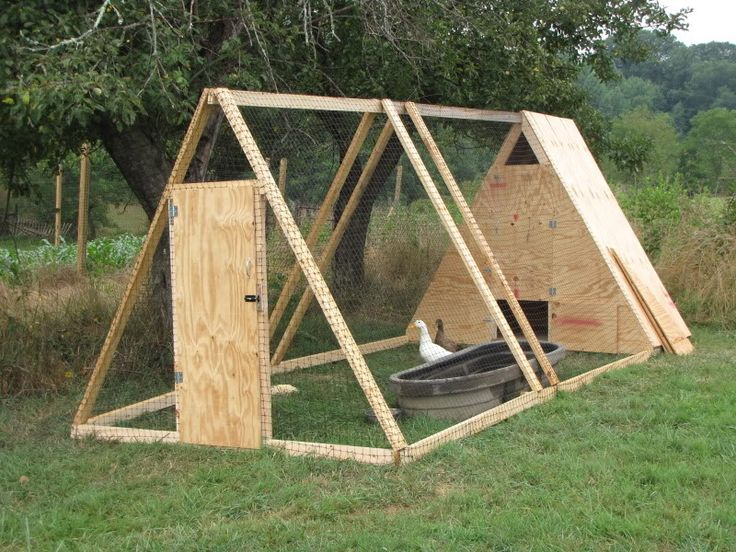 Looks simple & efficient for duck tractor house (I'd add wheels on one end so it could be moved around yard).