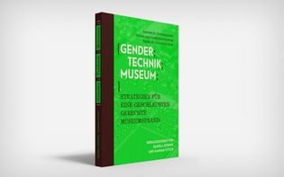 Anthology collating the outcome of a conference on gender theory in the context of museums of technology, held at Deutsches Technikmuseum Berlin in 2015. (© Hagen Verleger) #Conference #Neon #Green #Print #Ephemera #Typography #Book #Publication #Softcover