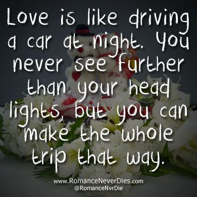 High Quality Love Is Like Driving Love Quote
