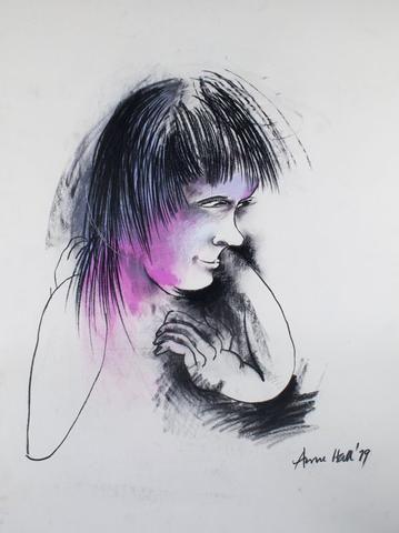Anne Marie Hall 'Blushing Girl' - Pastel on paper - SOLD – Angela Tandori Fine Art