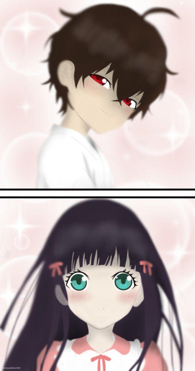 Adashino Benio and Enmadou Rokuro // RokuBeni// Benio Adashino and Rokuro Enmadou // Sousei no Onmyouji // #souseinoonmyouji //双星の陰陽師