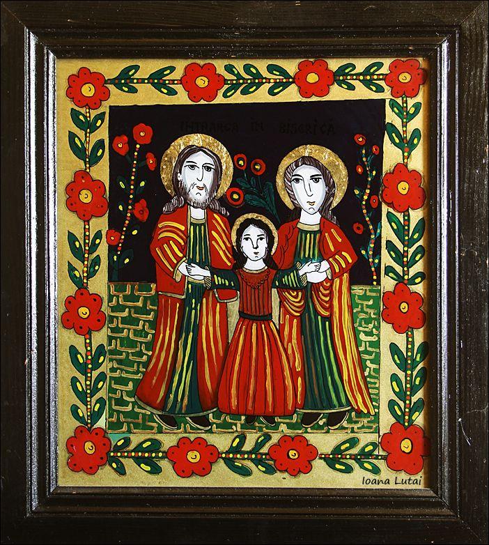 Intrarea in biserica a Maicii Domnului - Icoane pe sticla Sapanta - Ioana Lutai - foto Cristina Nichitus Roncea http://icoanepesticla-sapanta.ro