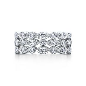Tiffany Swing three-row ring of diamonds in platinum....would love to have an Eternity Band similar...perhaps my fav oval diamonds?