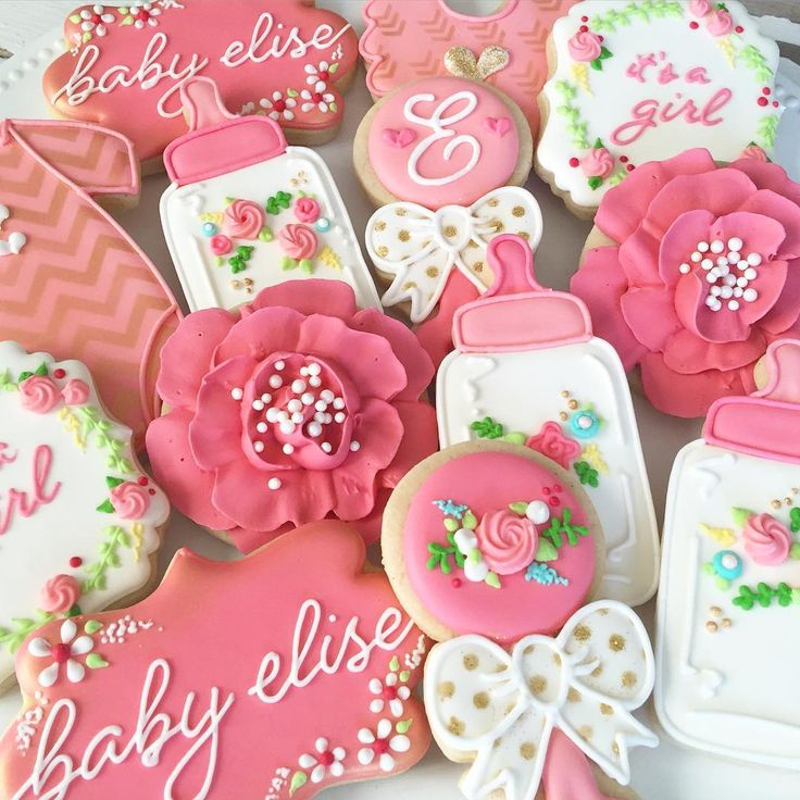 best baby shower cookies images on   baby shower, Baby shower