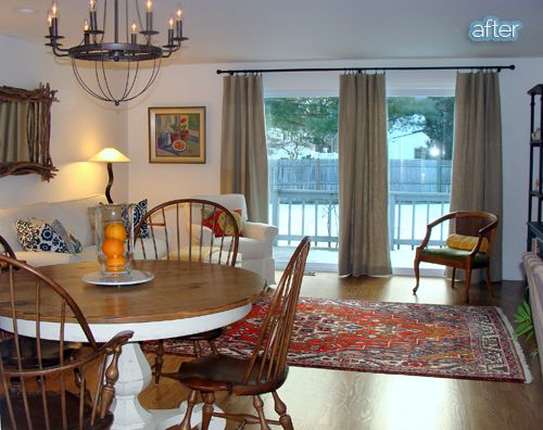 Love Curtains Over The Sliding Glass Door Instead!  Curtains For Sliding Glass Doors