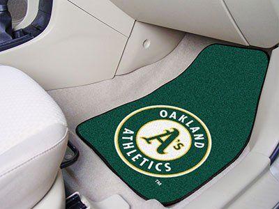 "MLB - Oakland Athletics 2-piece Carpeted Car Mats 17""x27"""