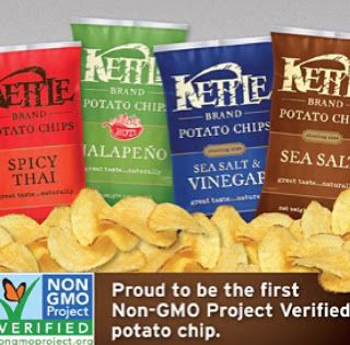 Anti GMO Foods and Fluoridated Water: Kettle Brand Potato Chips! The First Non-GMO Project Verified Potato Chips.