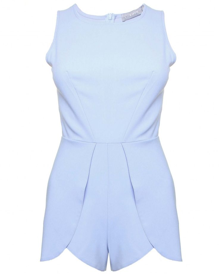 LOVE Powder Blue Playsuit With Overlay Shorts - In Love With Fashion