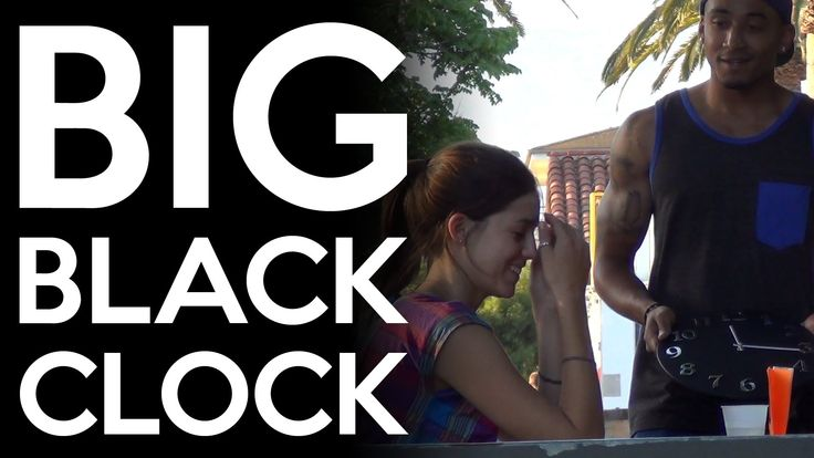 Guy Asks Strangers If They Would Like to See His Big Black Clock