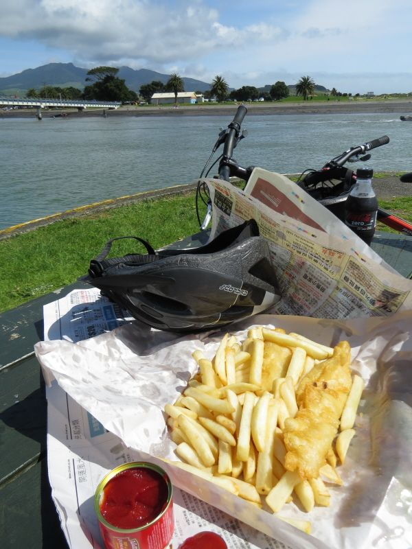 """Fush and Chops' at the Raglan Estuary"