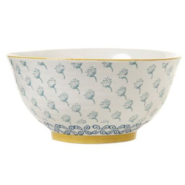 aqua Carolyn Donnelly Eclectic Meadow Bowl